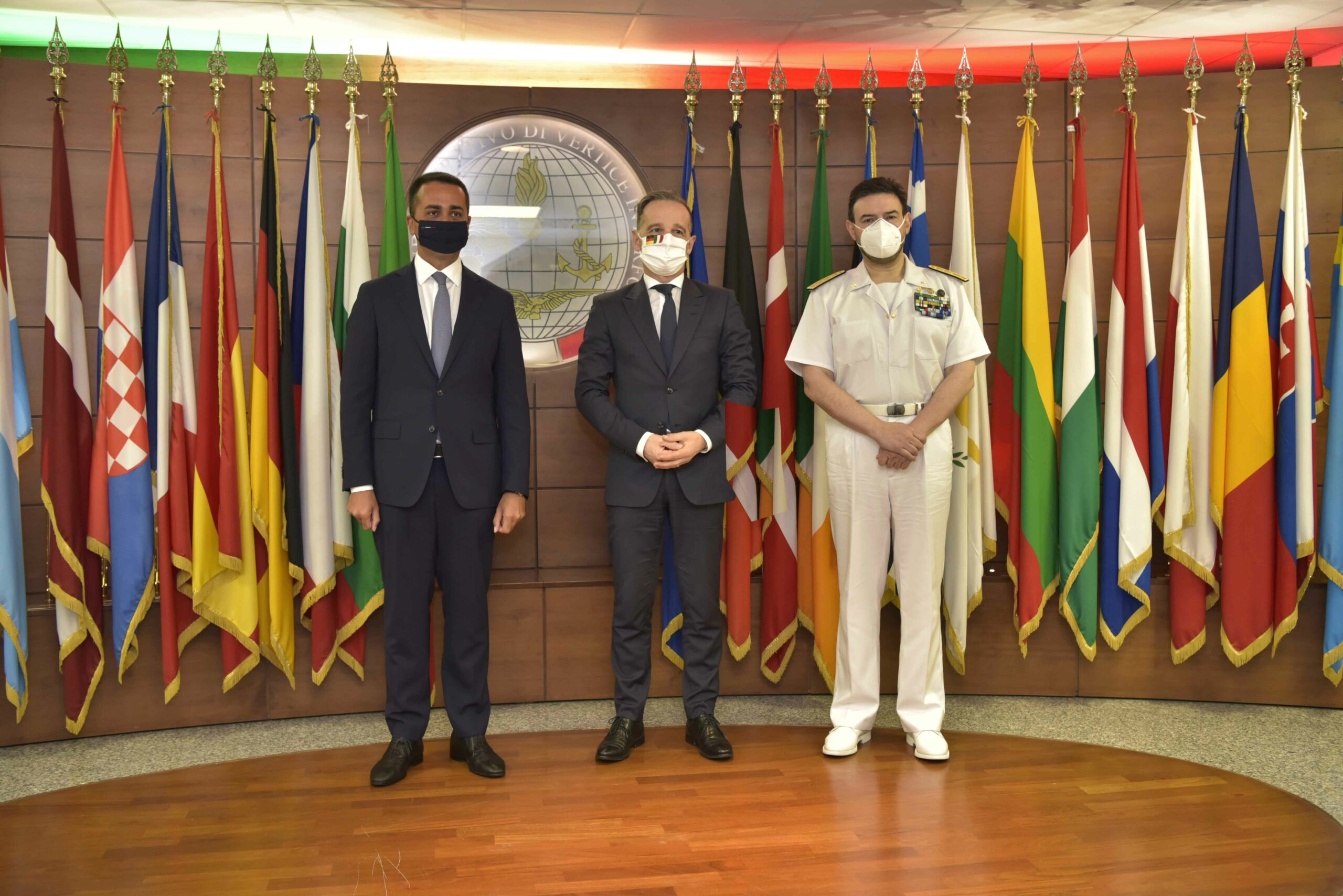 German and Italian Ministers for Foreign Affairs visit Operation Irini's headquarters
