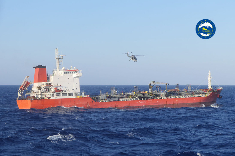 Operation Irini inspects a vessel for suspected violation of the UN arms embargo on Libya