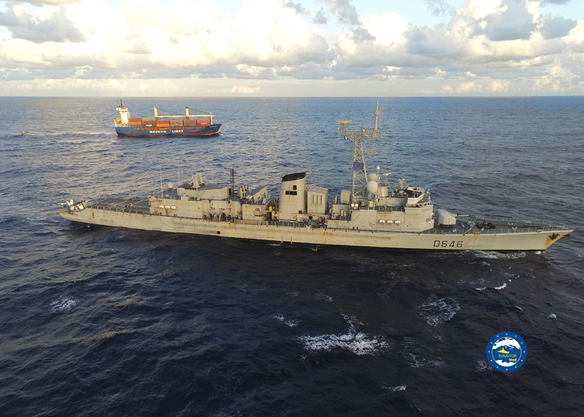Operation IRINI inspects a vessel in application of the UN arms embargo on Libya