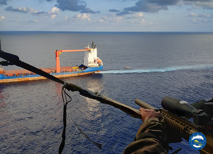 Operation IRINI inspected a Merchant Vessel in application of the relevant United Nation Security Council's resolutions on arms embargo