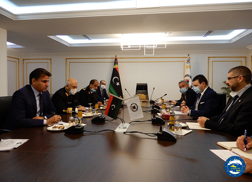 Tripoli: the Admiral Fabio Agostini met the Prime Minister Al-Sarraj and other GNA's Ministers and officials
