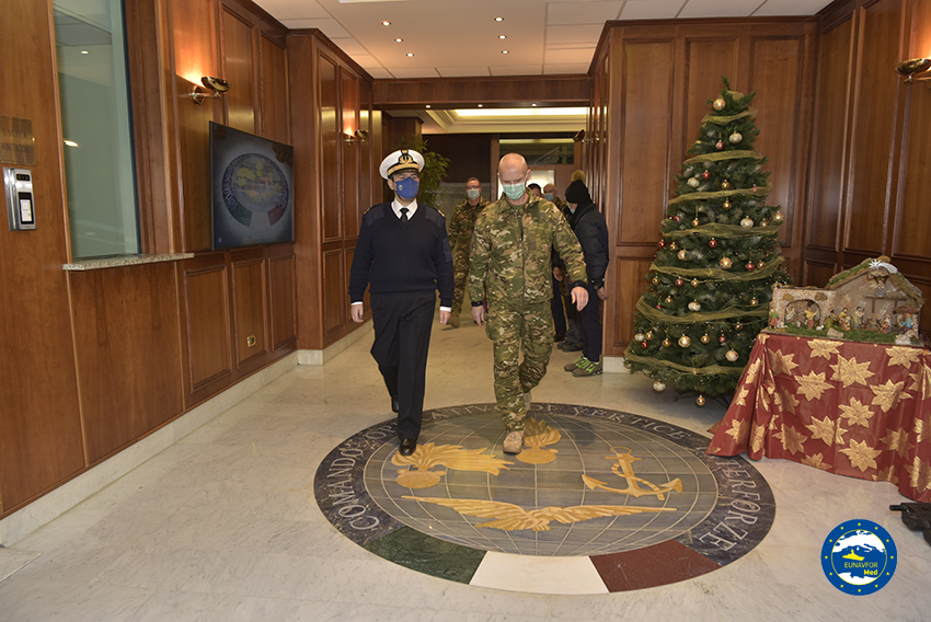 Chief of the General Staff of the Slovenian Armed Forces in Italy visited the Operation Irini's Headquarters