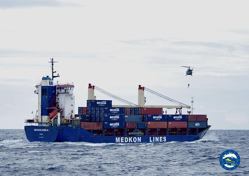Operation IRINI inspected a Panama-flagged vessel