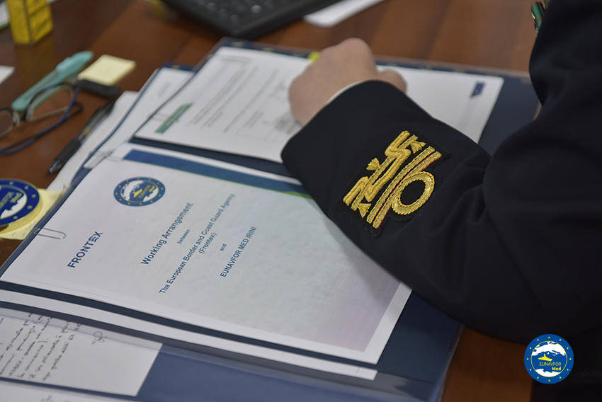 Operation Irini and Frontex to expand cooperation