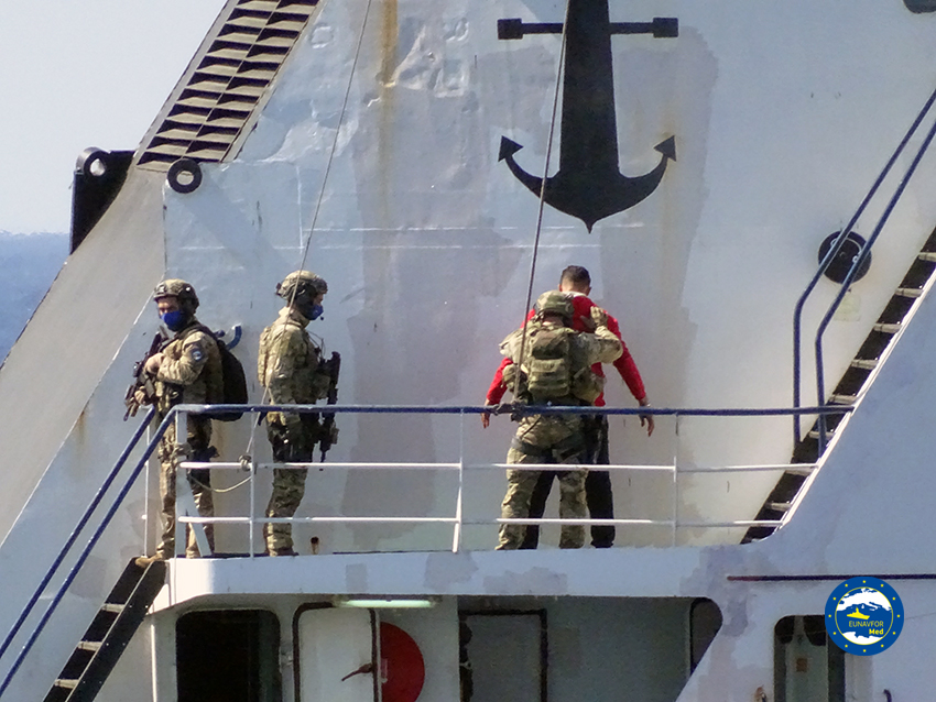 Operation IRINI inspected a Union of the Comoros-flagged vessel