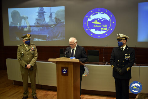 HR/VP Josep Borrell visited Operation IRINI for its 1st anniversary