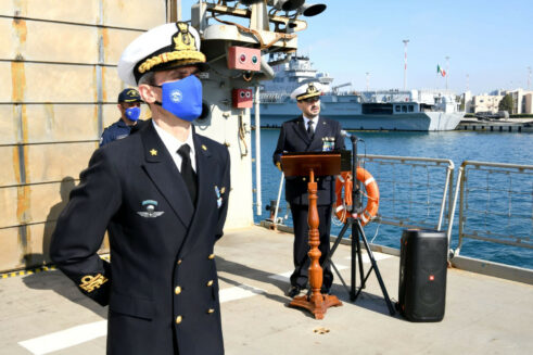 EUNAVFOR MED IRINI: new Force Commander and new flagship from the Italian Navy
