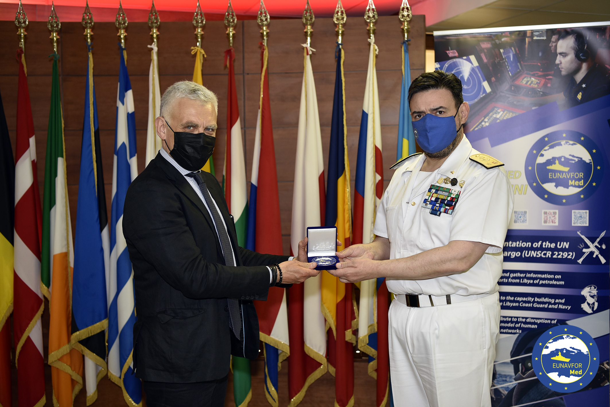 The Acting Director General for European Neighbourhood and Enlargement Negotiations (DG NEAR) Mr. Maciej POPOWSKI visited Irini's headquarters