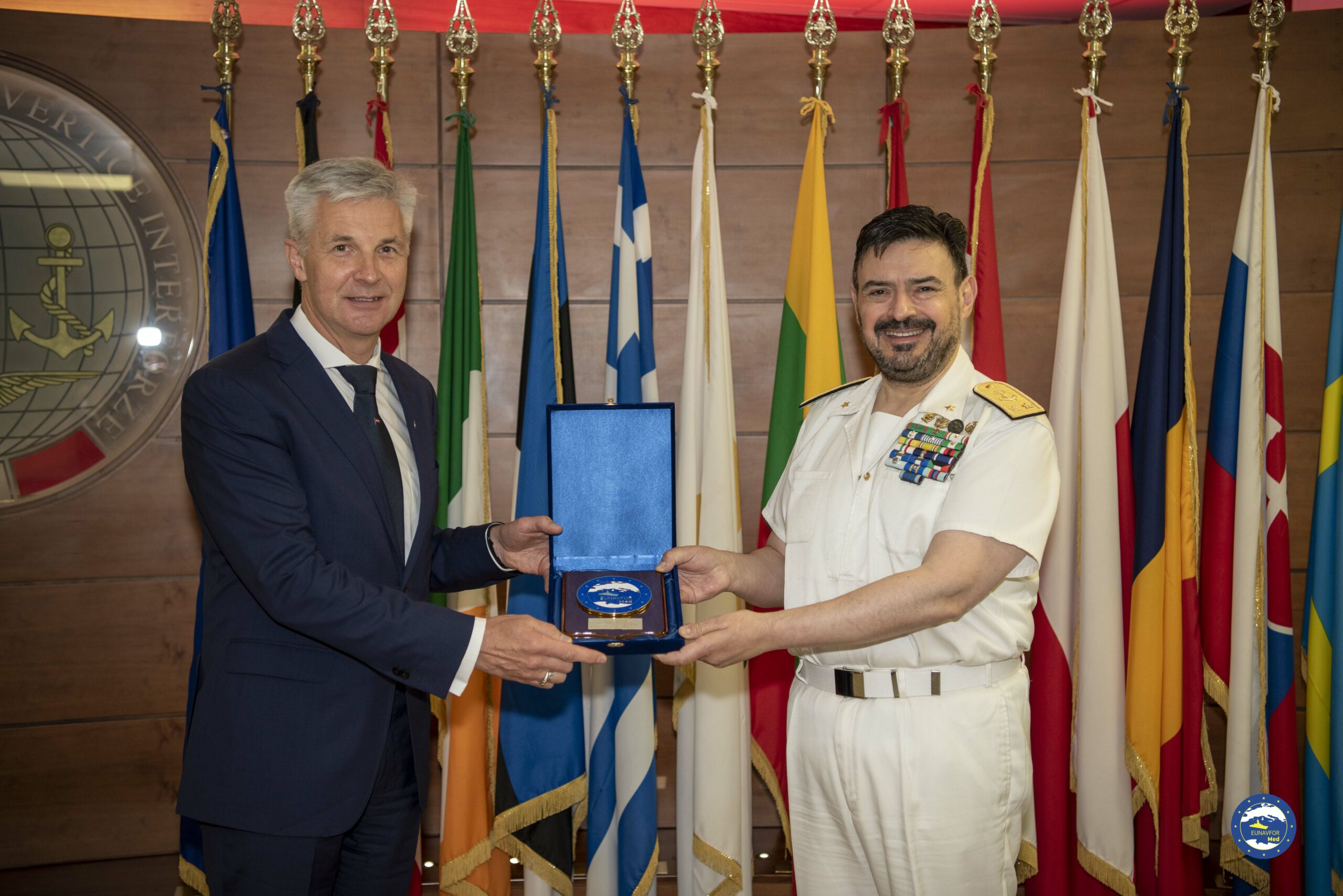 The Deputy Prime Minister and Minister of Defence of the Republic of Latvia Dr. Artis Pabriks visited Irini's headquarters