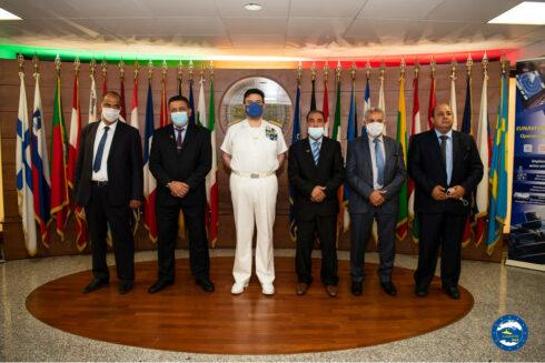 Rear Admiral Fabio Agostini welcomed a Libyan delegation at IRINI's Operational Headquarter