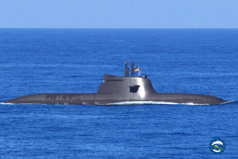 Flagship San Giorgio and Submarine SSK U35 engaged in Passex Exercise