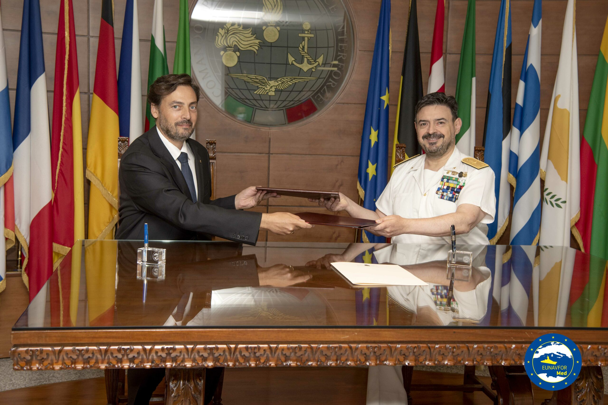 Eunavfor Med Irini and Accademia Internazionale Mauriziana sign a working arrangement with the aim to cooperate in the field of training